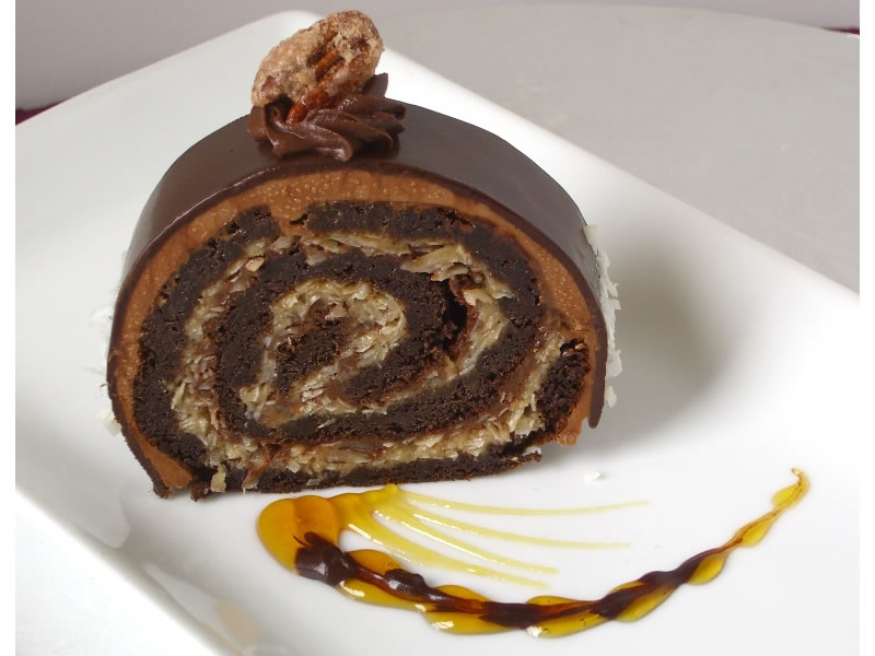 German Chocolate Roulade